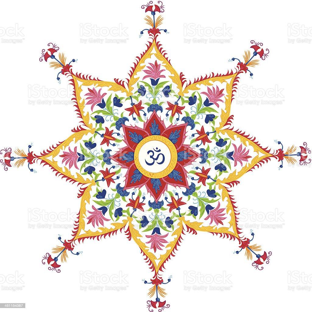 Beautiful Aum Design royalty-free stock vector art