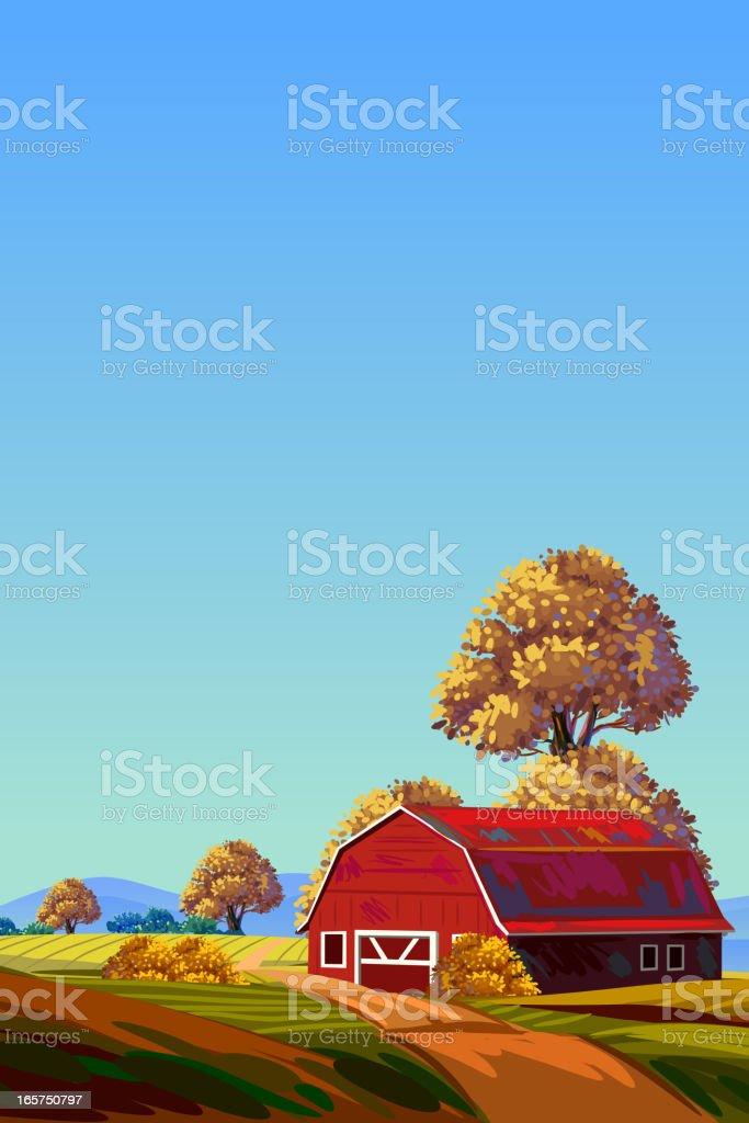 Beautiful Autumn Background royalty-free stock vector art