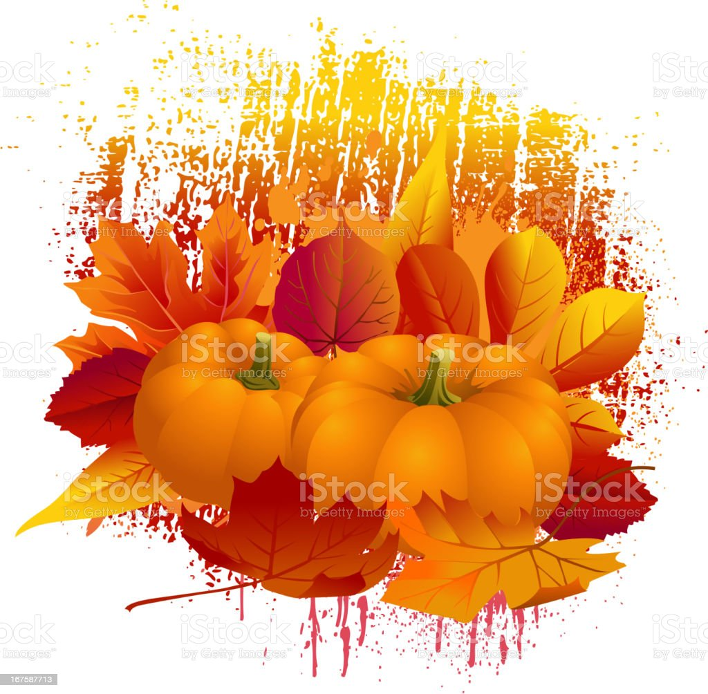 Beautiful Autumn Background vector art illustration