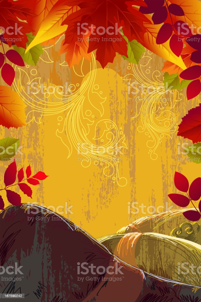 Beautiful Autumn Background royalty-free stock vector art