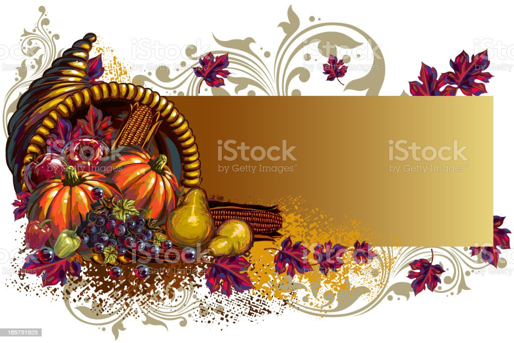 Beautiful Autumn Background/Banner royalty-free stock vector art