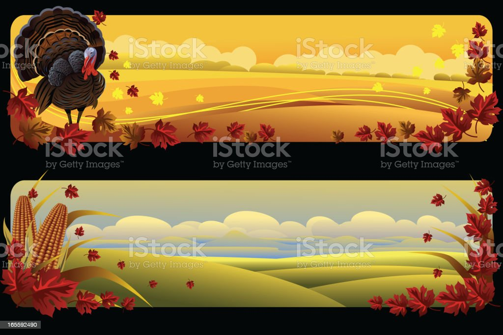 Beautiful autumn Background/Banners vector art illustration