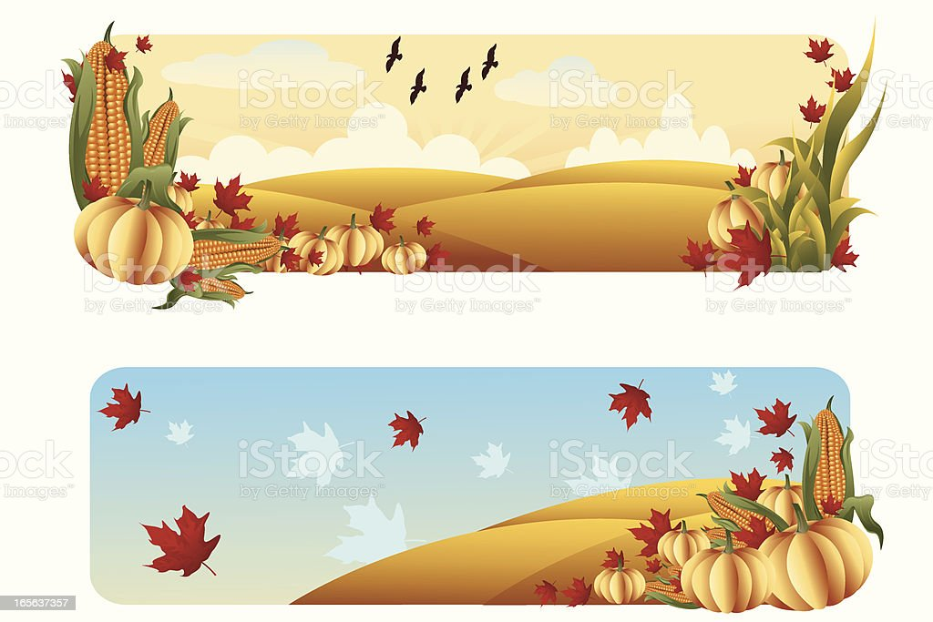 Beautiful Autumn background/banners vector art illustration