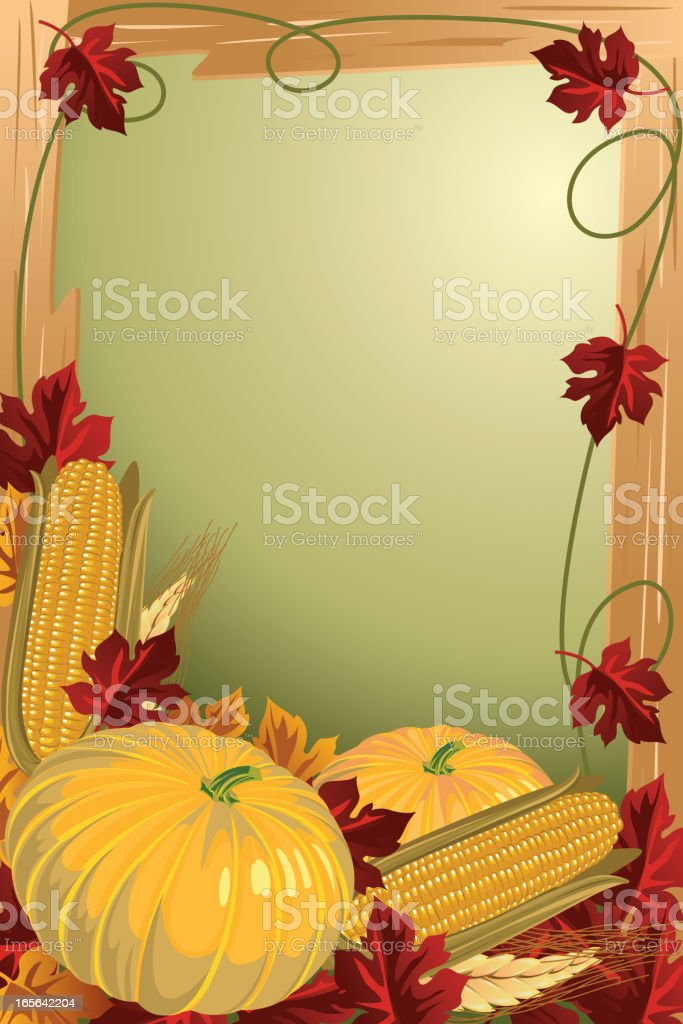 Beautiful Autumn Background/Frame royalty-free stock vector art
