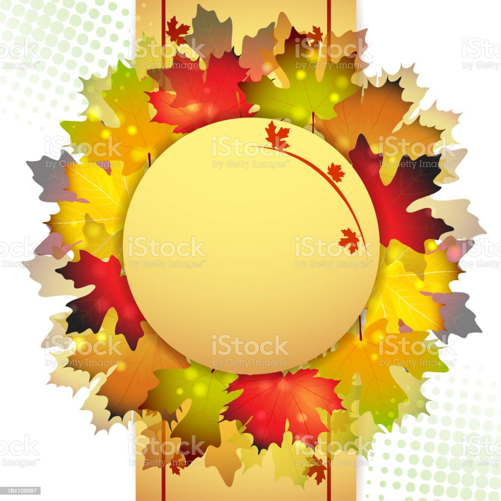 Beautiful autumn frame royalty-free stock vector art