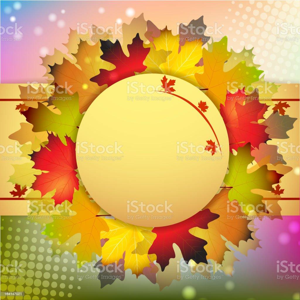 Beautiful autumn frame royalty-free stock vector art