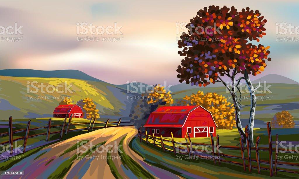 Beautiful Autumn Landscape royalty-free stock vector art