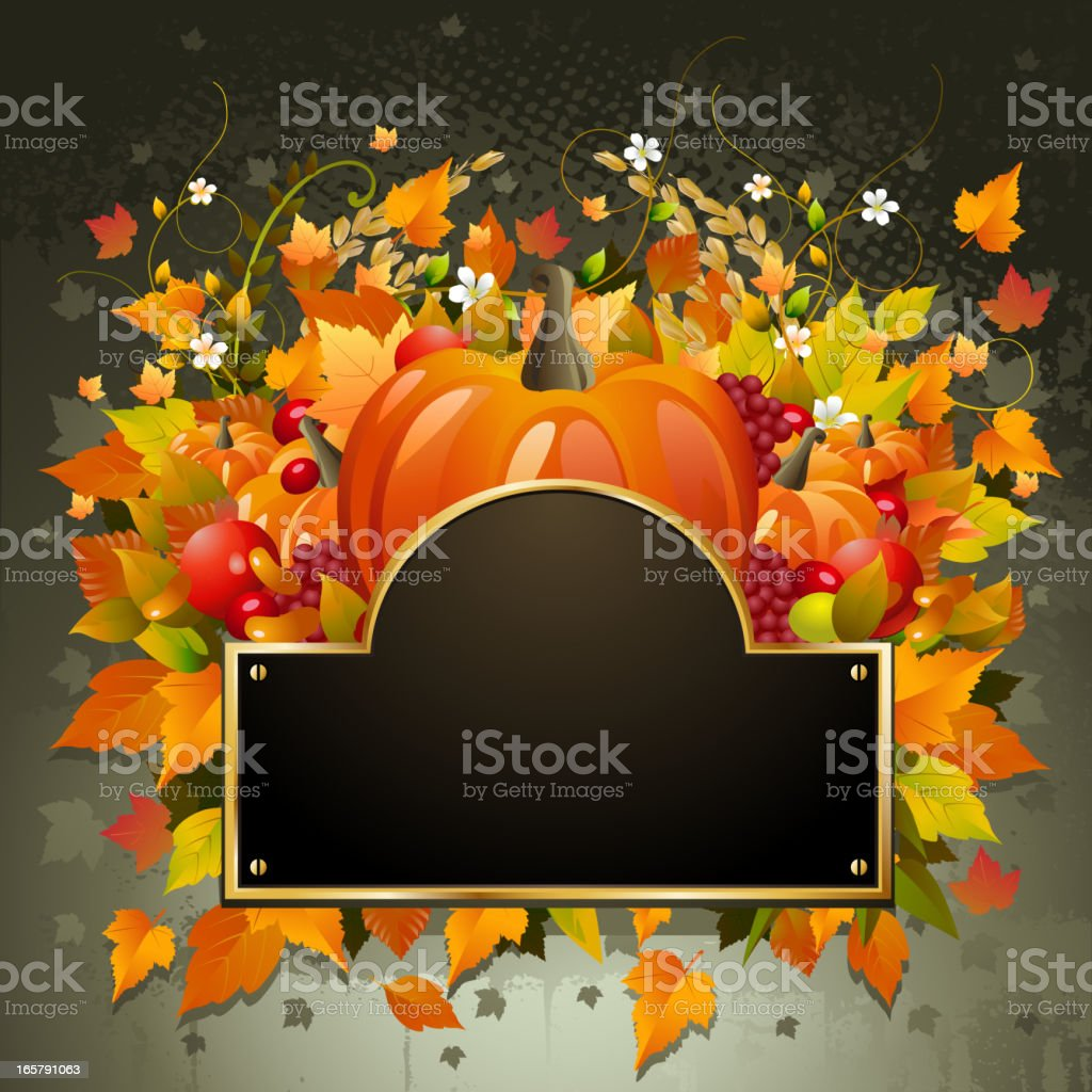 Beautiful Autumn/Thanks Giving Background royalty-free stock vector art