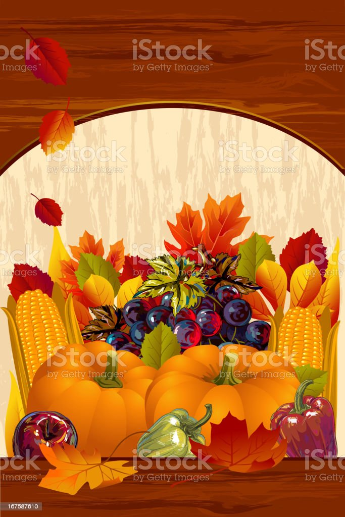 Beautiful Autumn/Thanksgiving Background vector art illustration