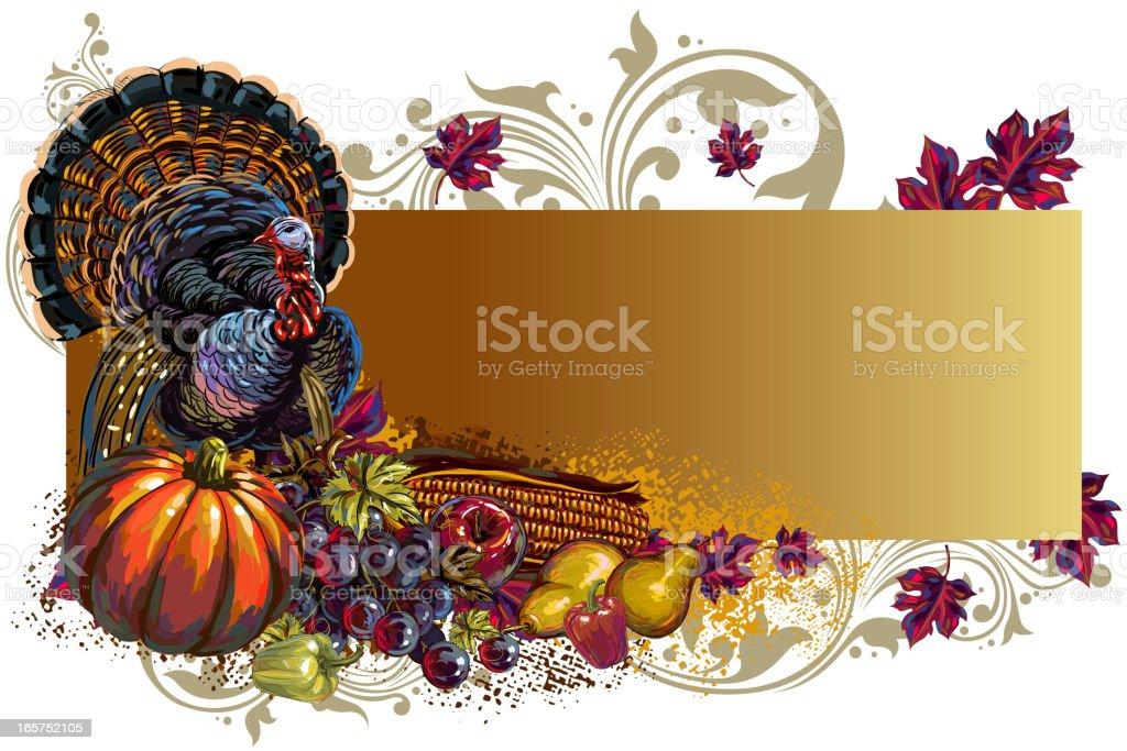 Beautiful Autumn/Thanksgiving Banner royalty-free stock vector art