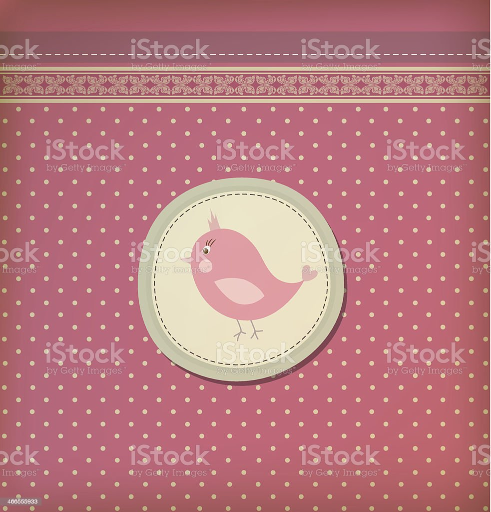 Beautiful baby vintage greeting card vector royalty-free stock vector art