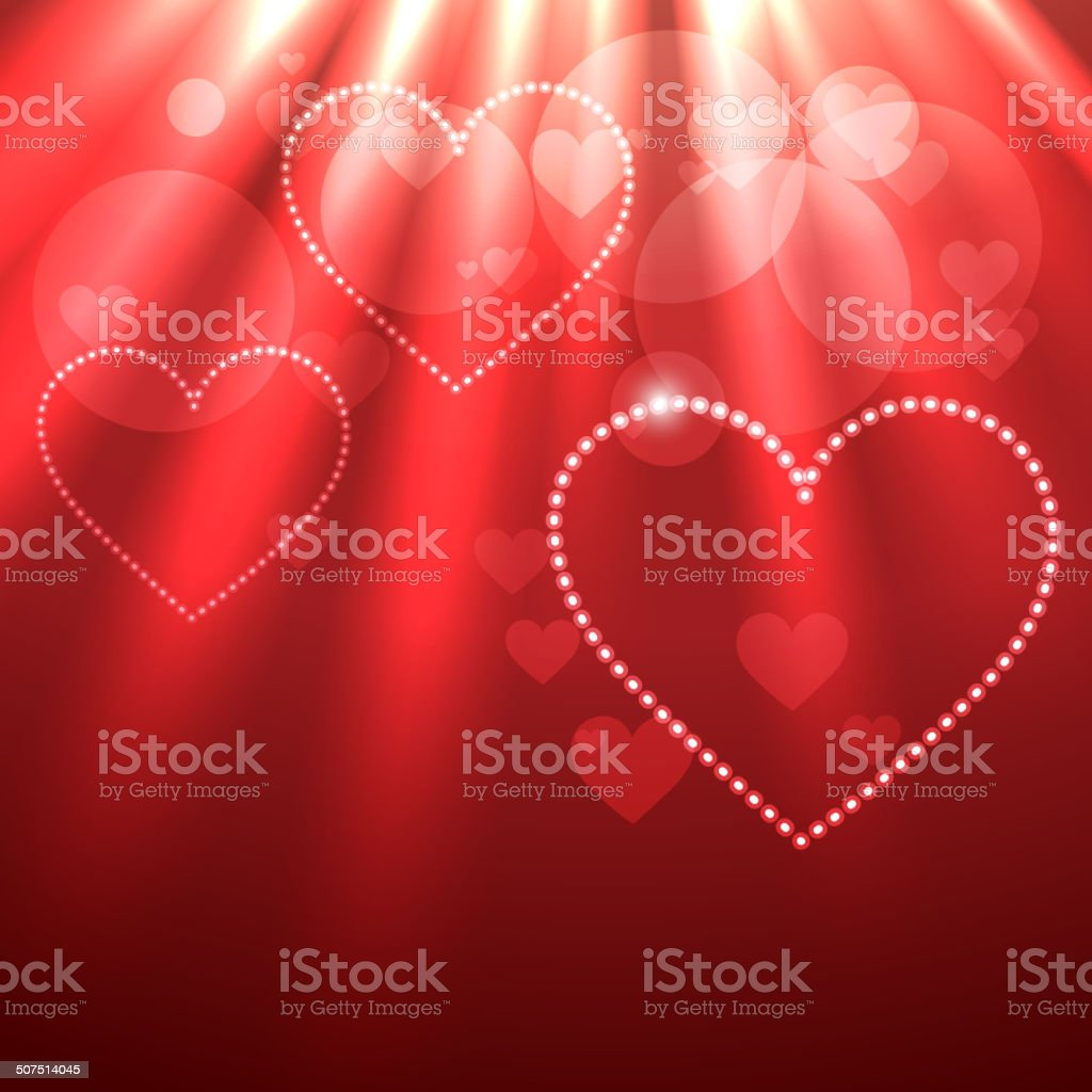 beautiful background of heart vector art illustration