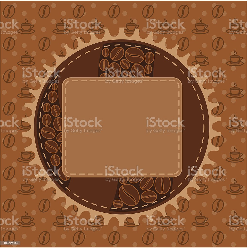 Beautiful background with a lace and coffee cup. royalty-free stock vector art