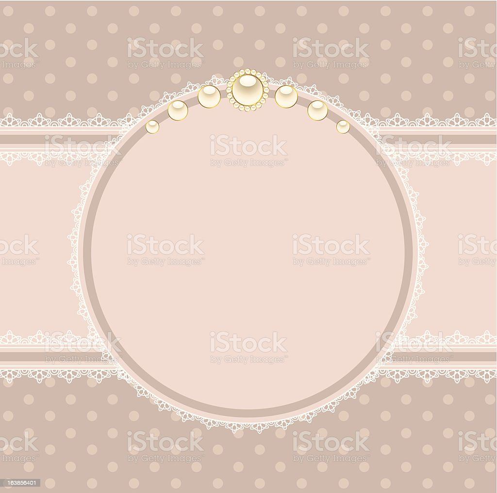 Beautiful background with lace ornaments. Vector royalty-free stock vector art