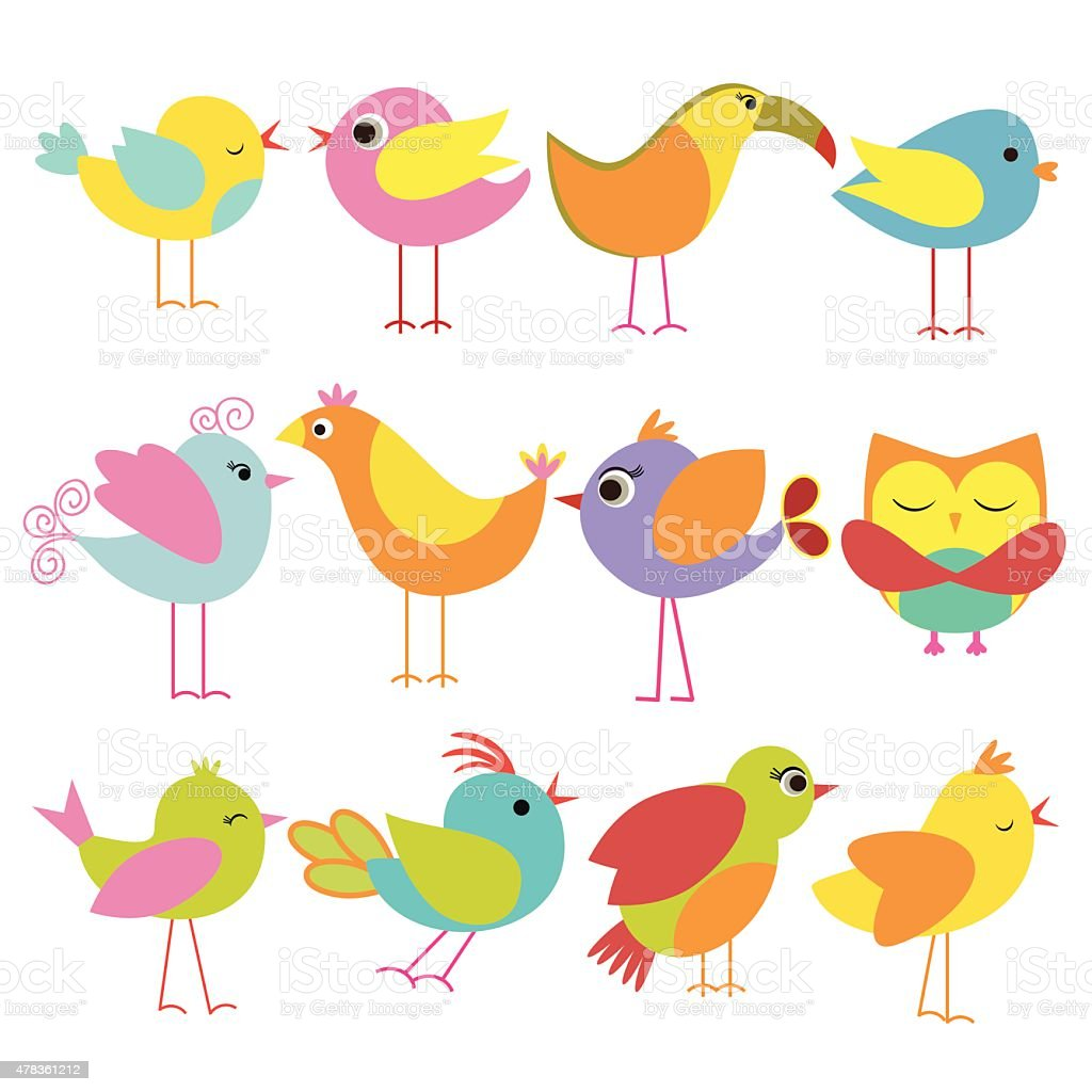 Beautiful Bird vector art illustration