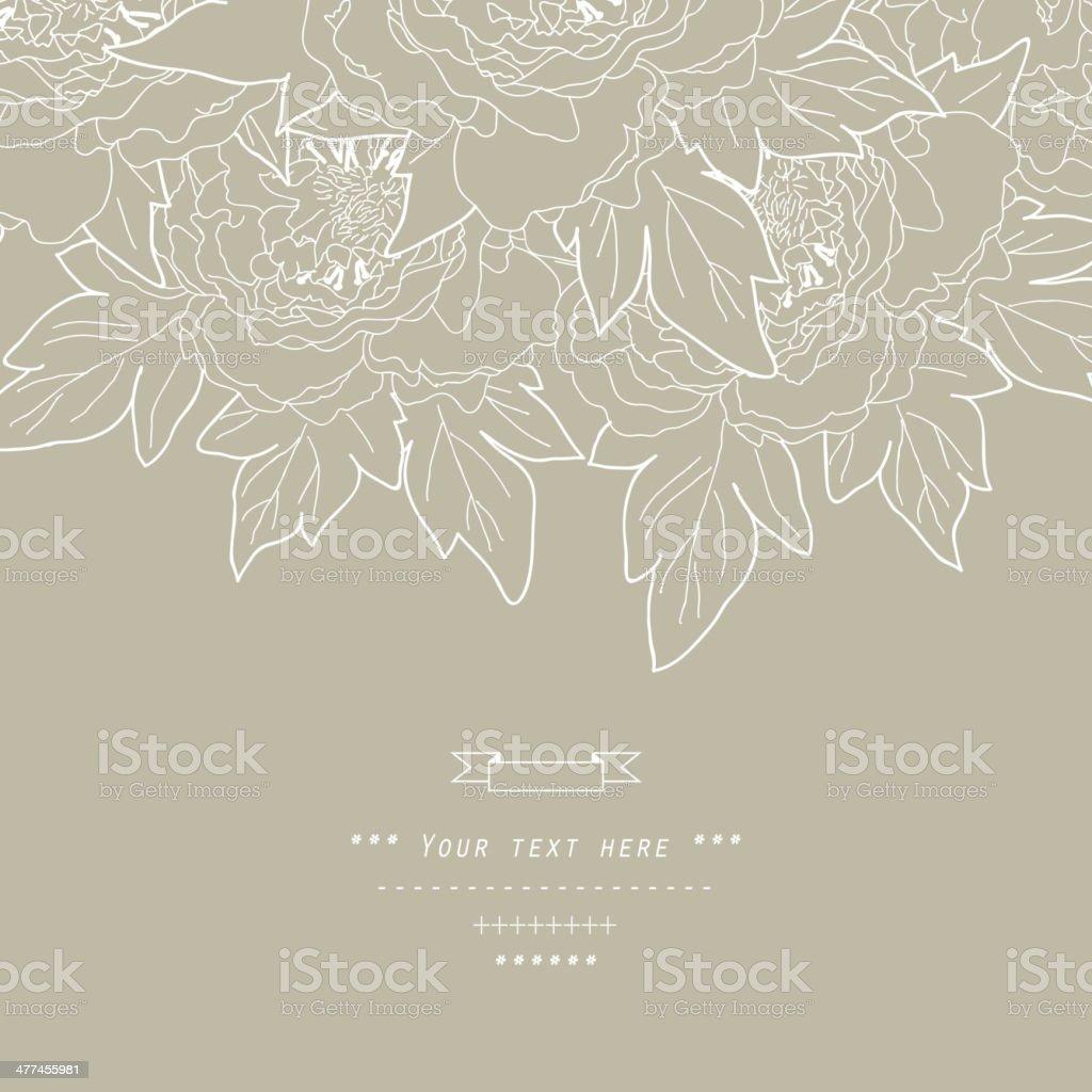 Beautiful  bouquet in vector. Hand drawn vector illustration. vector art illustration