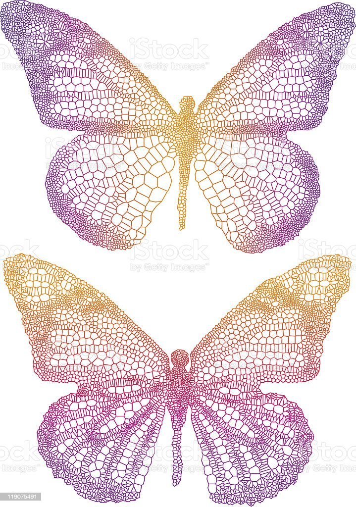 beautiful butterflies royalty-free stock vector art