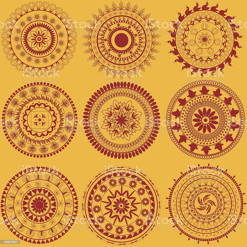 Beautiful Circle Design royalty-free stock vector art