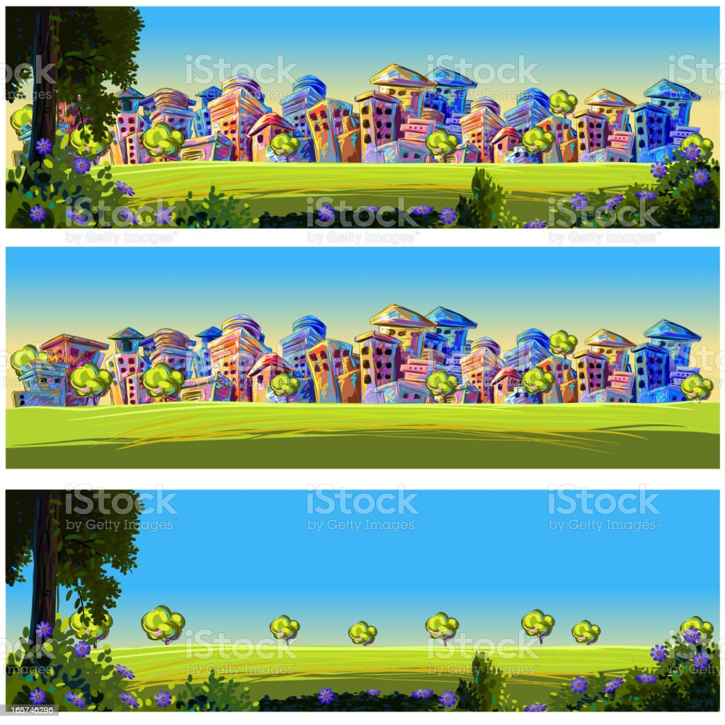 Beautiful City Background/Banner royalty-free stock vector art