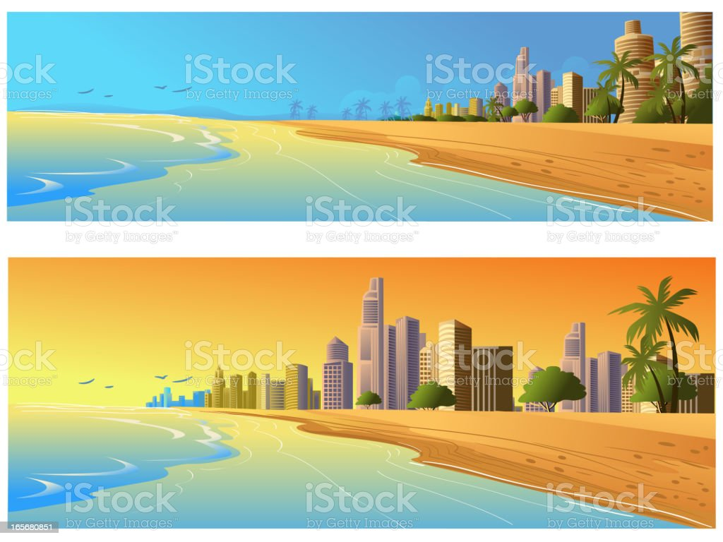 Beautiful City Background/Banners royalty-free stock vector art