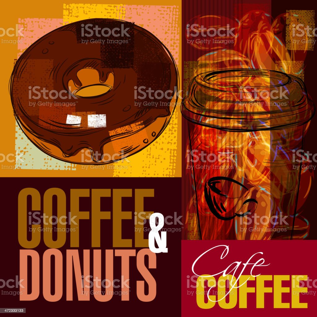 Beautiful Coffee background vector art illustration