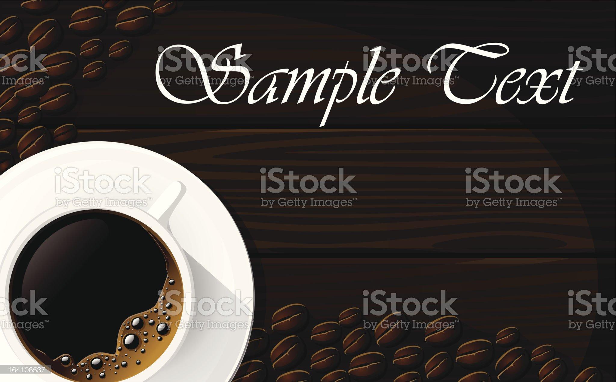 Beautiful Coffee Design royalty-free stock vector art
