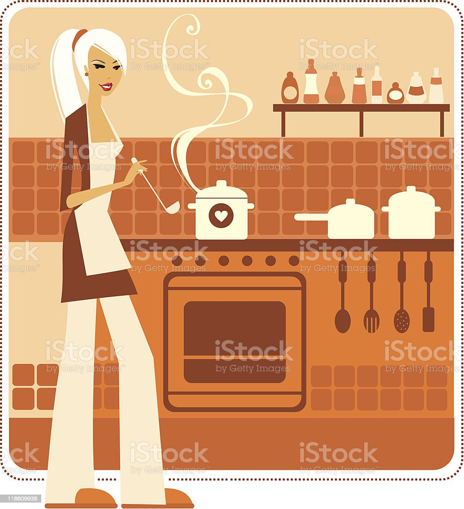 Beautiful cook royalty-free stock vector art