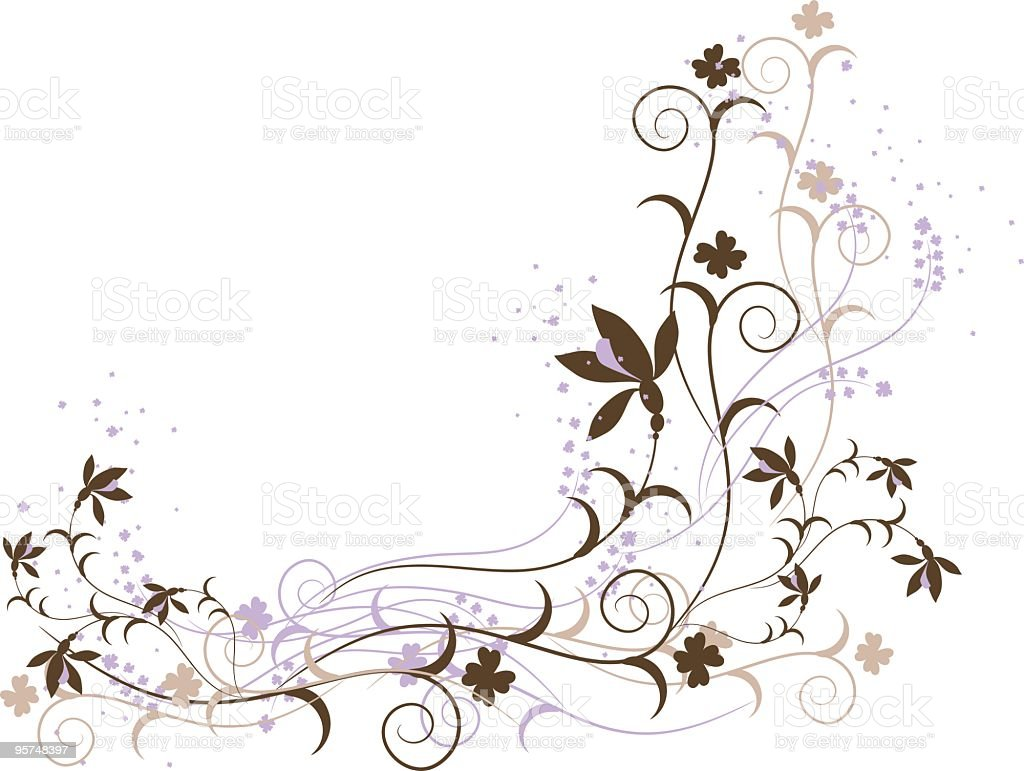 Beautiful Corner vector art illustration