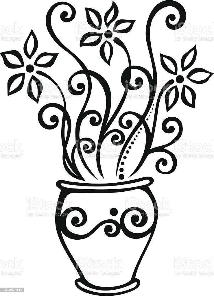 Beautiful Decorative Flower (Vector) royalty-free stock vector art