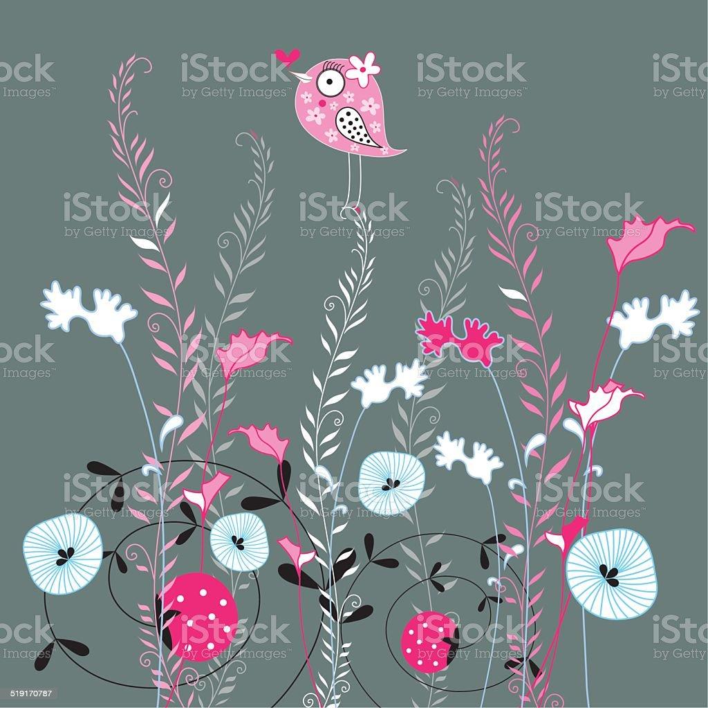 Beautiful designs of flowers and birds stock vector art 519170787 beautiful designs of flowers and birds royalty free stock vector art izmirmasajfo