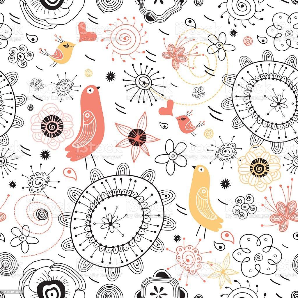 Beautiful designs of flowers and birds stock vector art 519461037 beautiful designs of flowers and birds royalty free stock vector art izmirmasajfo