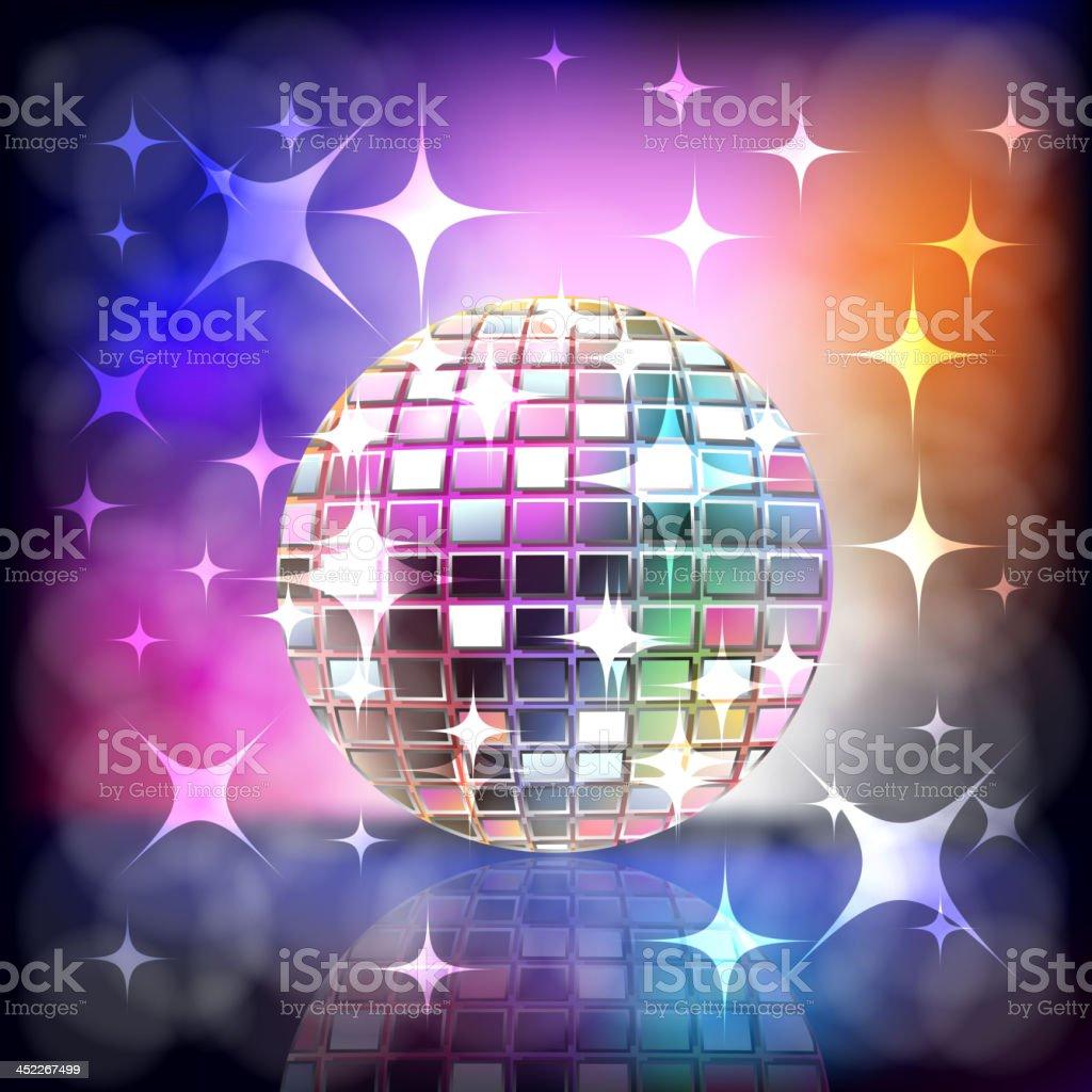 Beautiful Disco ball royalty-free stock vector art