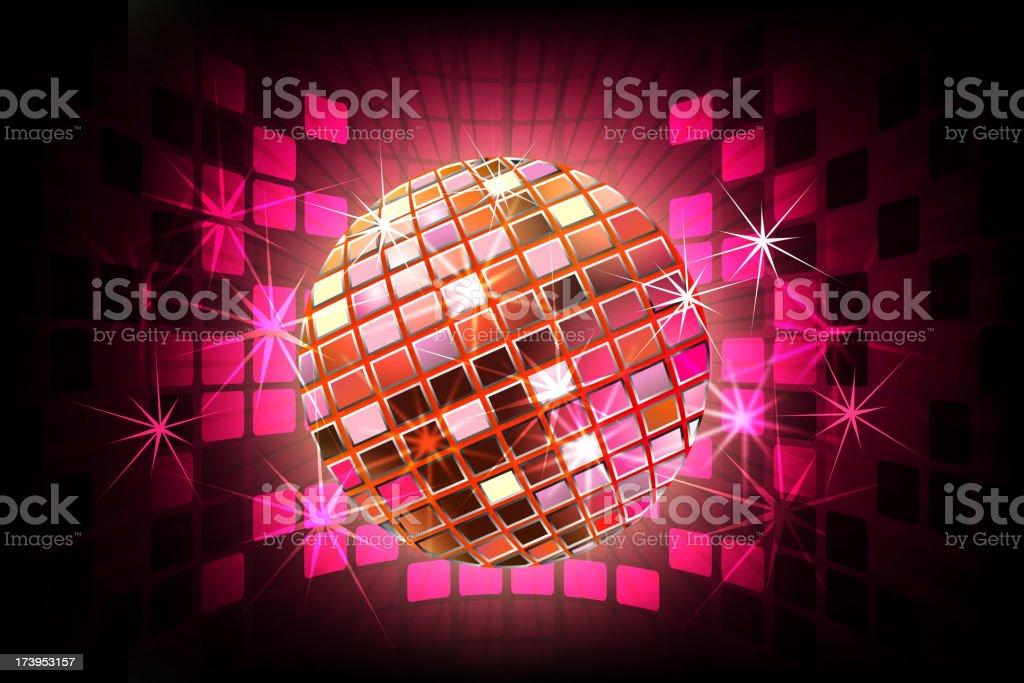 Beautiful Disco ball with Splashy Lights royalty-free stock vector art