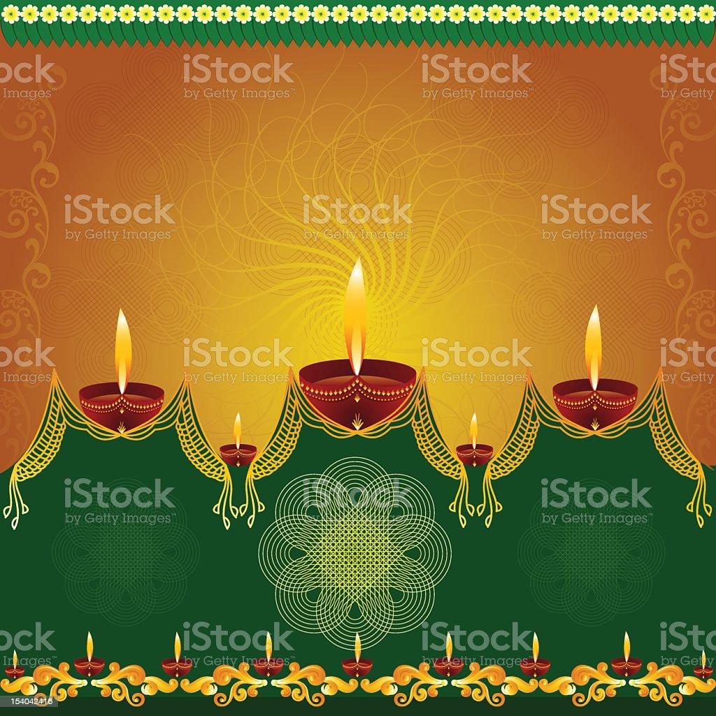 Beautiful Diwali Background. stock photo