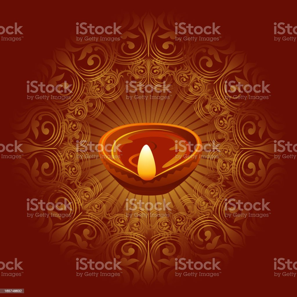 Beautiful Diwali Background vector art illustration