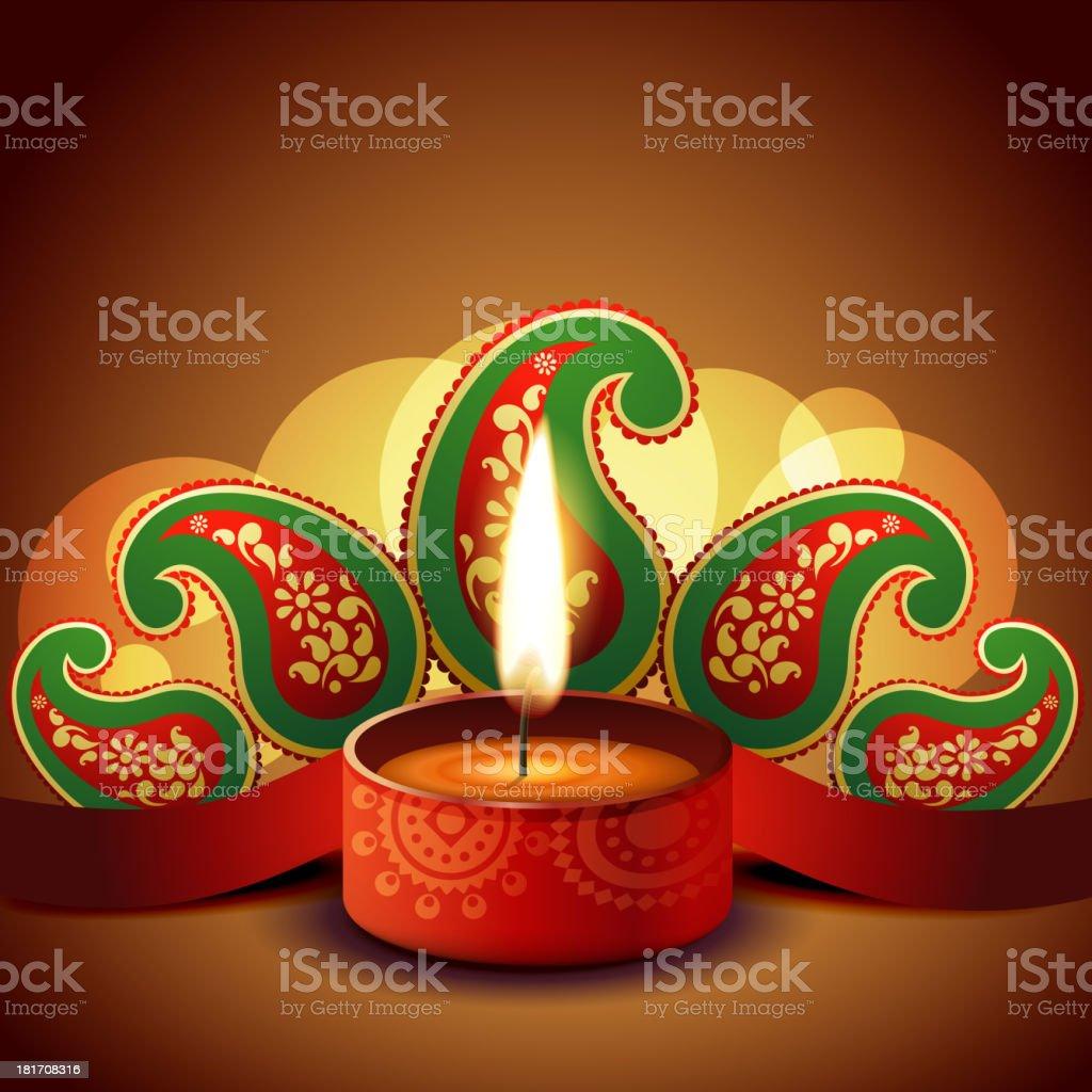 beautiful diwali background royalty-free stock vector art