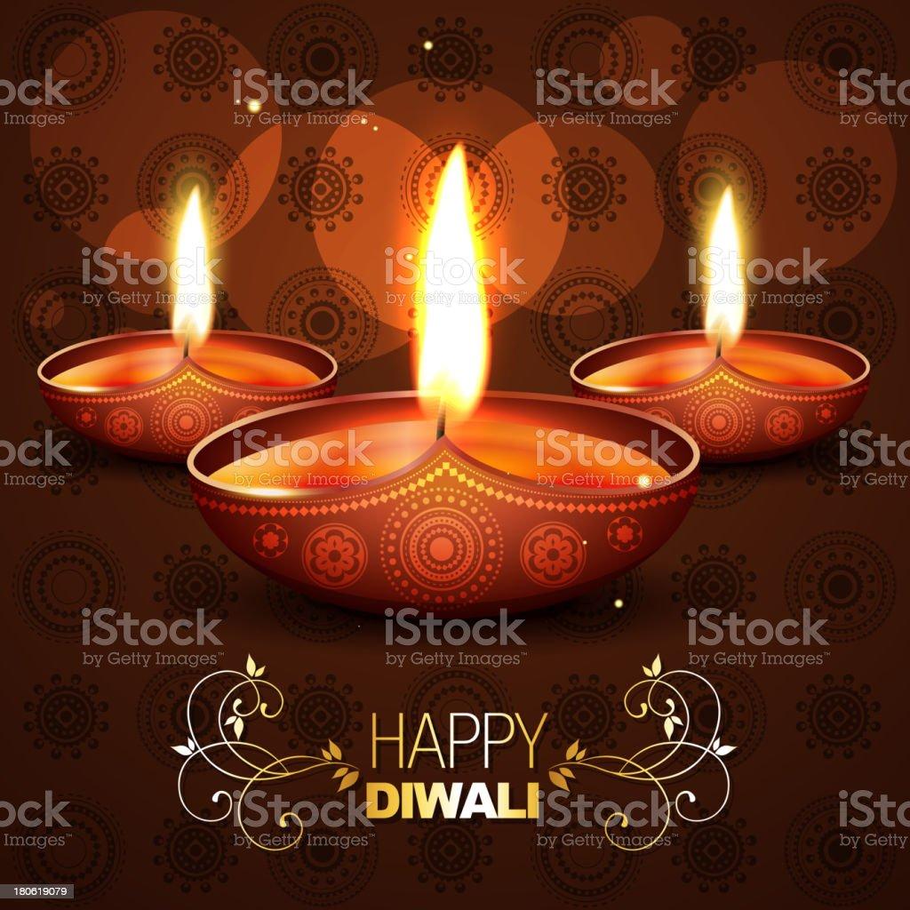 beautiful diwali background vector illustration royalty-free stock vector art