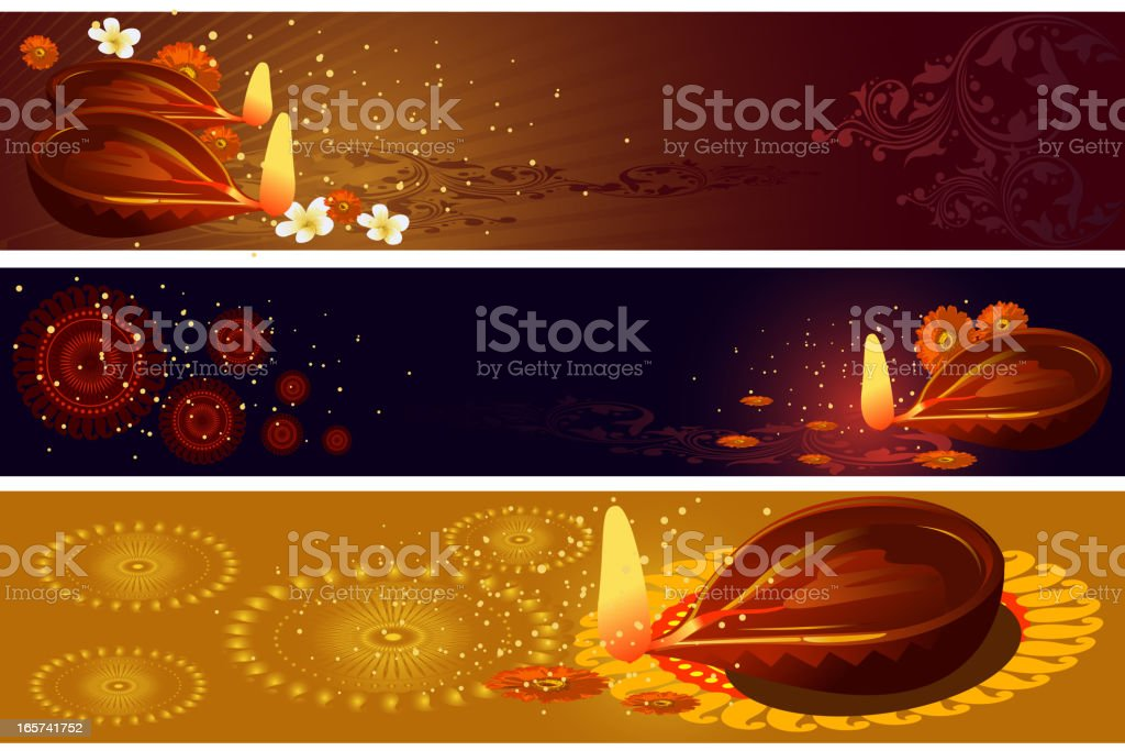 Beautiful Diwali Background/Banners royalty-free stock vector art