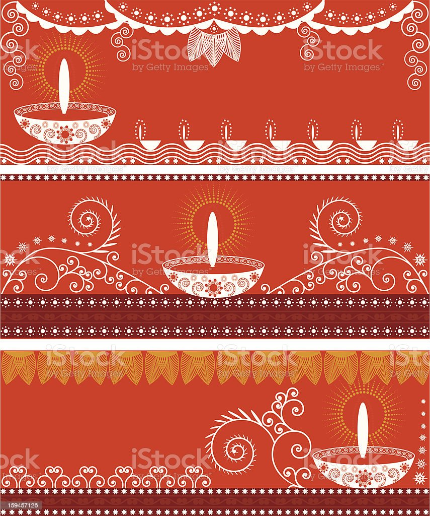 Beautiful Diwali Bannars royalty-free stock vector art