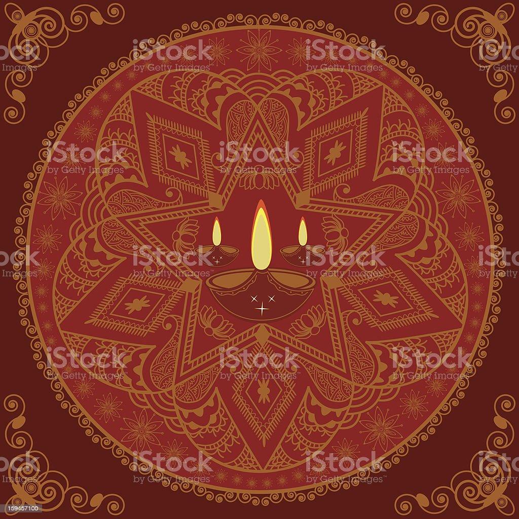 Beautiful Diwali decorative Mandala design stock photo