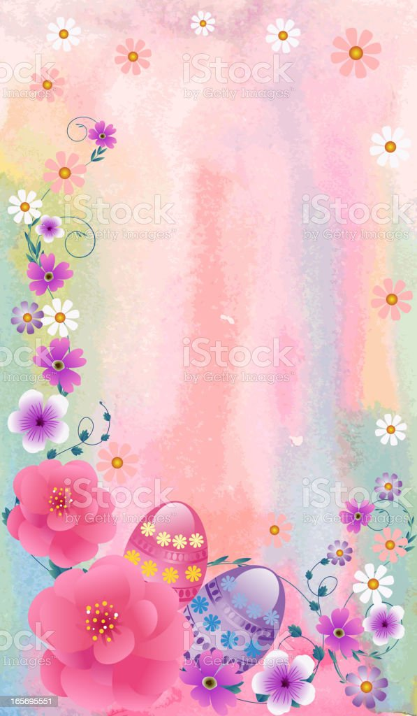 Beautiful Easter Background vector art illustration