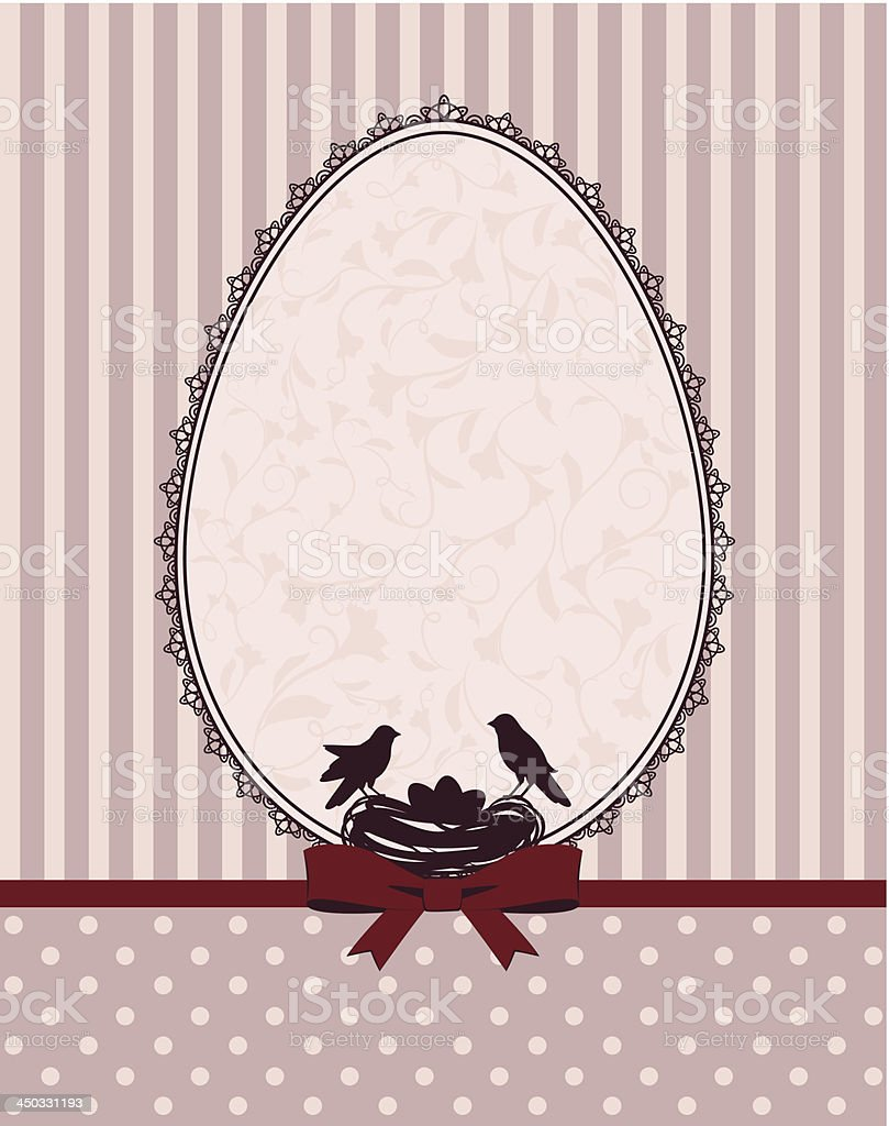 Beautiful Easter card. Vector royalty-free stock vector art