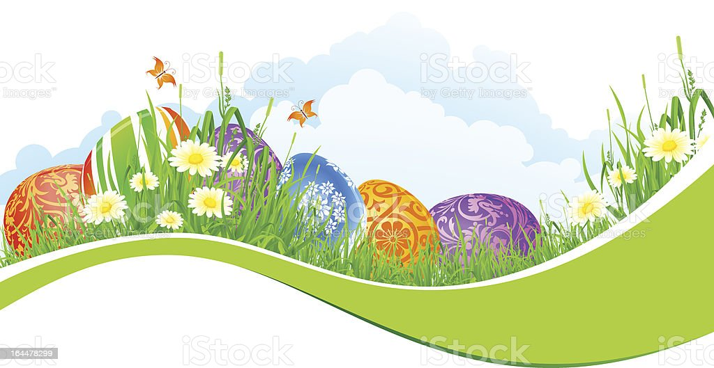 Beautiful Easter Holiday Background royalty-free stock vector art