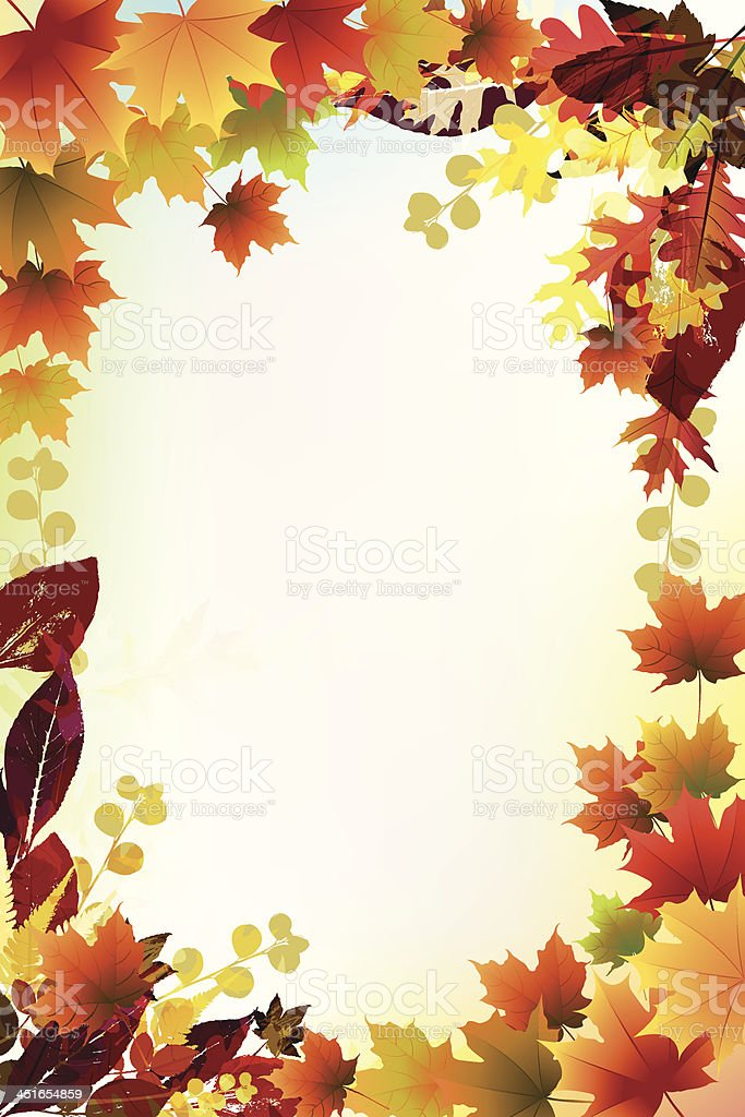 Beautiful Fall Background. vector art illustration