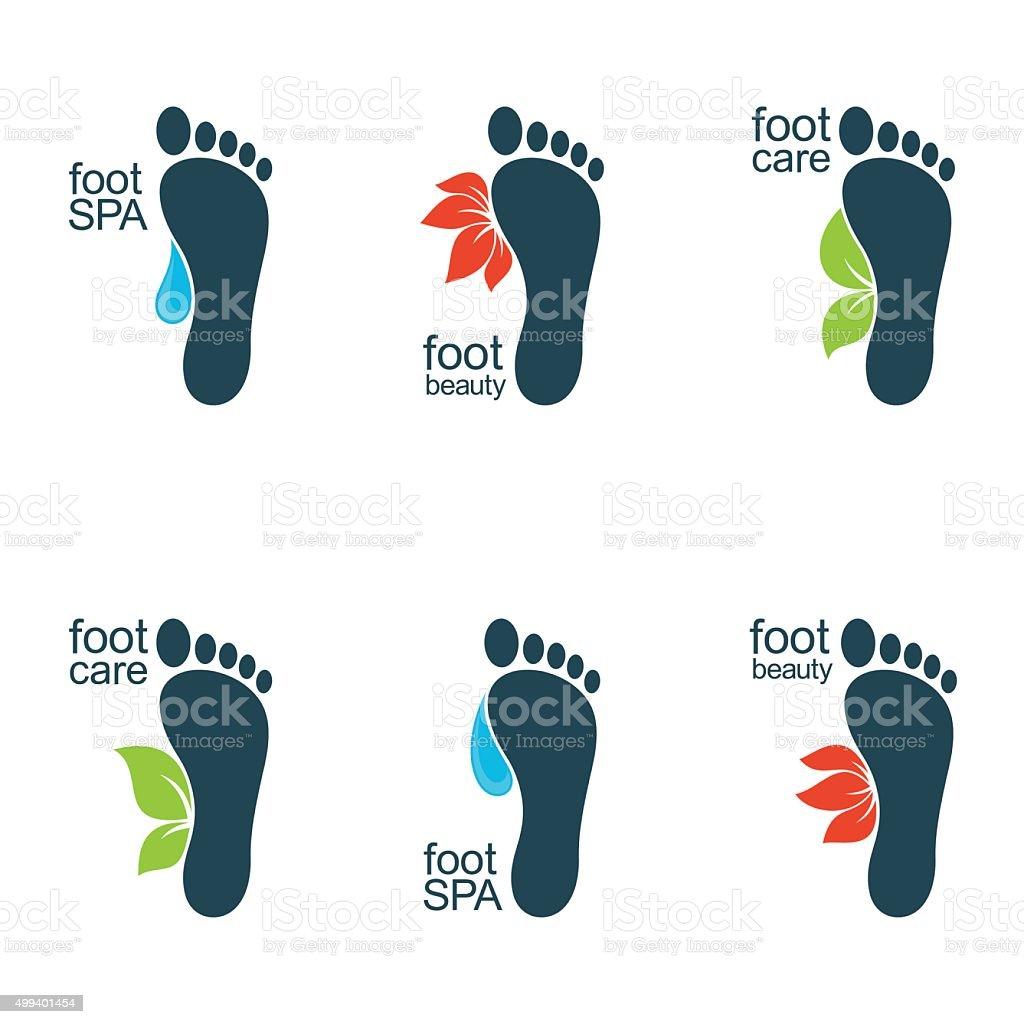 Beautiful feet vector art illustration