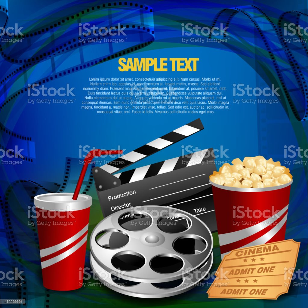 Beautiful Film Background royalty-free stock vector art