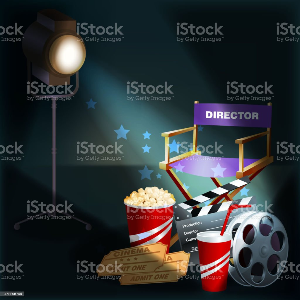 Beautiful Film Background royalty-free stock vector art