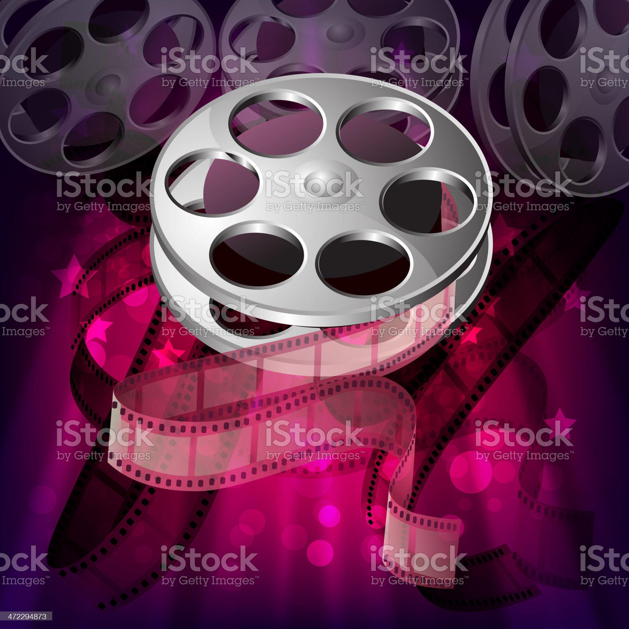 Beautiful Film Reel Background royalty-free stock vector art
