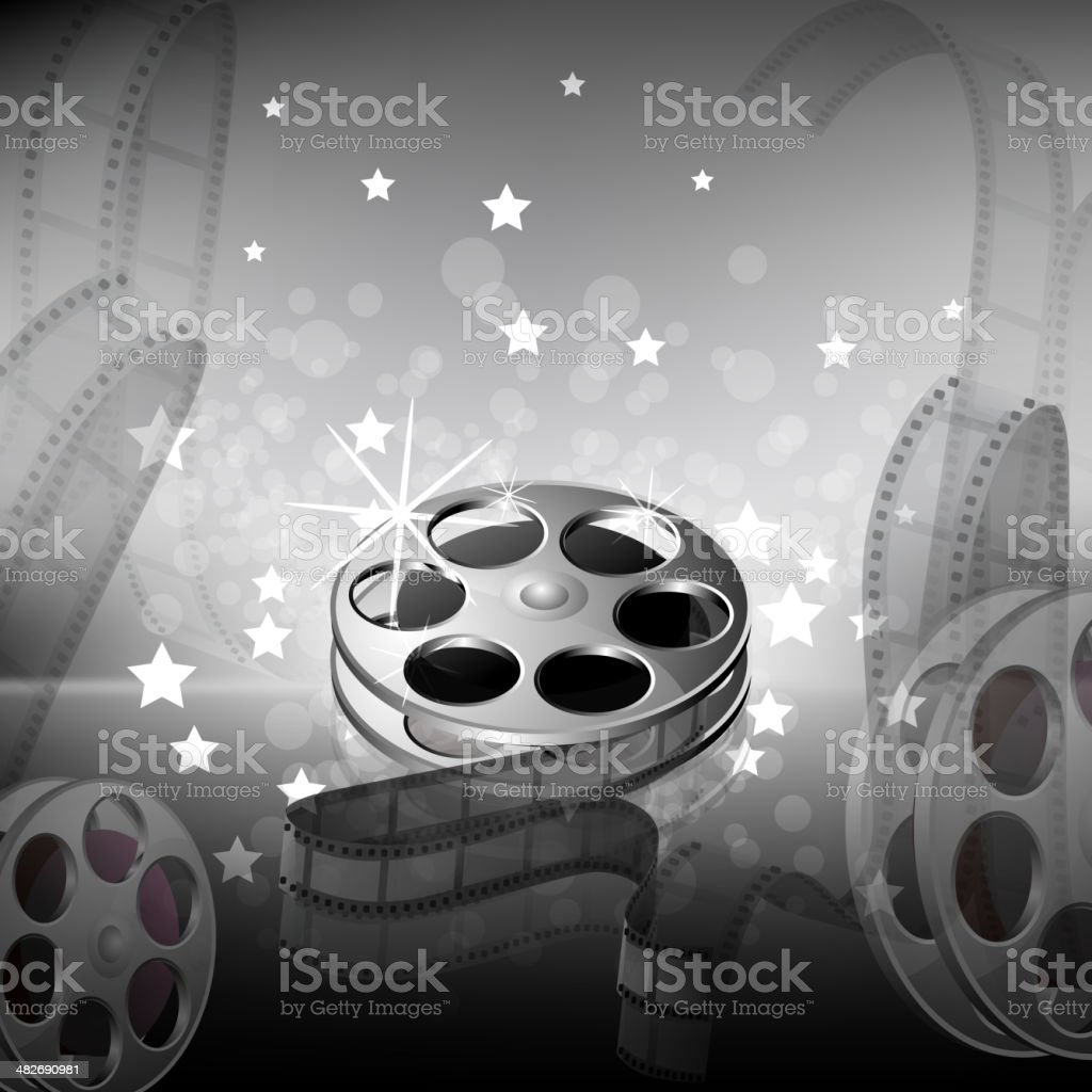 Beautiful Film Reel Background royalty-free stock vector art
