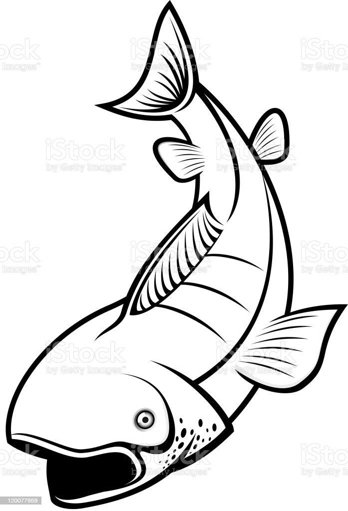 Beautiful fish royalty-free stock vector art